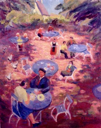 cafe in the black forest by elizabeth campbell fisher-clay