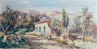 cottage by the bay of naples by lucien potronat