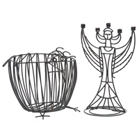 basket and candlestick (2 works) by john risley