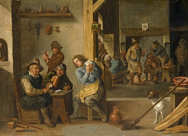 gentlemens room with card game by david teniers the younger