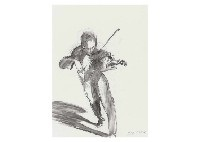 violinist xiv by claude weisbuch