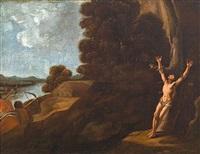 paisaje con el martirio de san sebastián by francisco collantes