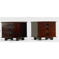 station wagon nightstands (pair) by paul t. frankl