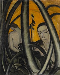 figures among the trees by bernard gussow