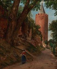 summer day at gåsetårnet (the goose tower) in vordingborg, denmark by jörgen roed