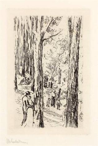 frühling im grunewald by max liebermann