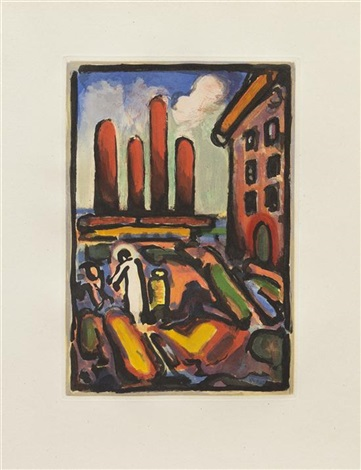 christ on the outskirts plate 1 from the passion series by georges rouault