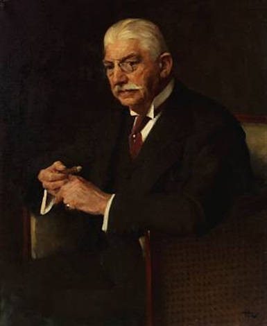 portrait of carl gammeltoft director of the danish sugar factories by herman albert gude vedel
