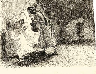 morgiane mit dem siedenden öl sketch for ali baba by max slevogt