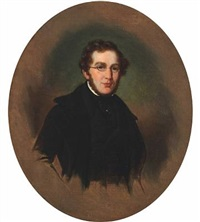 portrait of the dansih poet hans peter holst by emilius baerentzen
