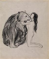 das weib und der bär (kvinnen og bjørnen) by edvard munch