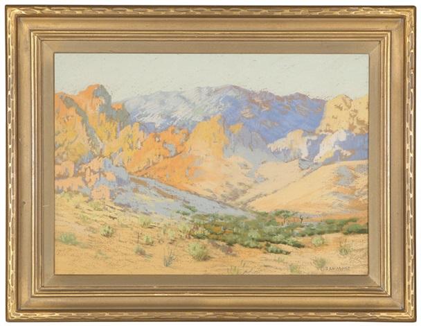 desert mountain landscape by carl sammons