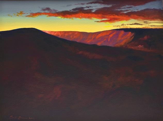 landscape sunset by calvin e dunn