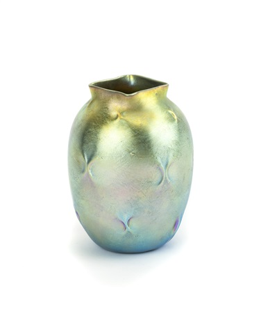 A Small Lc Tiffany Glass Cabinet Vase By Tiffany Studios On Artnet