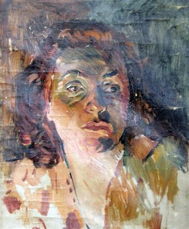 portrait of erna schonfeld by erich wolsfeld