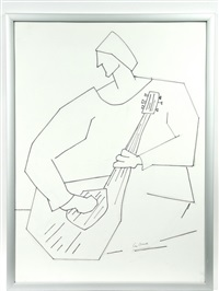 guitar player (study) by leo brooks