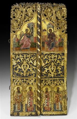 griechische schule 1617 jhbrprächtige königstür einer ikonostase