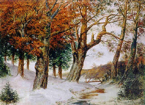 verschneite winterlandschaft by alwin louis christoph anger