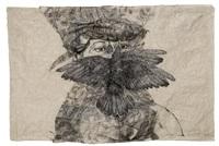 ohne titel (woman with bird) by kiki smith