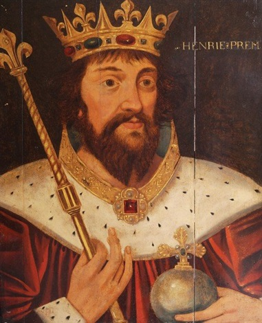 Portrait of King Henry I head and shoulders with Royal ...  Royal