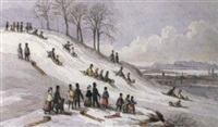 tobogganing, montreal from the north by james d. duncan