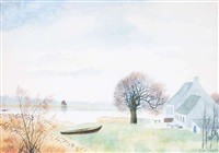 paysage à schelle by léon spilliaert