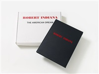 the american dream (buch mit 6 eingelegten, signierten und nummerierten) by robert indiana