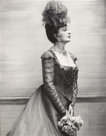 coral browne as mrs erlynne in lady windermeres fan by cecil beaton
