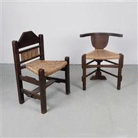 zwei stühle (2 works) by bernhard hoetger