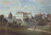 schloß altenburg, von der aiblinger bahnlinie bei der station westerham gelegen nach der natur entworfen und gemalt von jos. resch by joseph resch