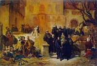 räumung des klosters alpirsbach durch schwedische kohorte im 30-jährigen krieg by alwin louis christoph anger