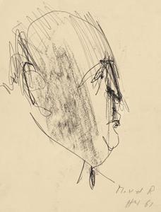 portrait mies van der rohe by hugo weber