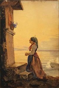 italian woman in prayer by ernst meyer