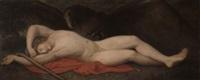 der schlafende ganymed mit dem adler by johan josef langenhöffel