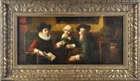 drei debattierende herren by lajos kolozsvary