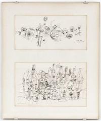 paesaggio et l'alchimista sonnambulo (2 works) by guido biasi