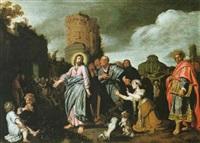 christus und die ehebrecherin by pieter lastman