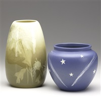 vase (+ another; 2 works) by hester pillsbury