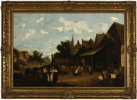 village festival by david teniers the younger
