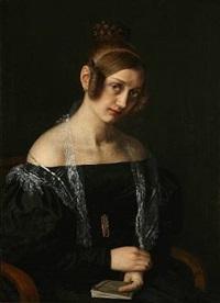 portrait of cecilie bøving, born dahl by vilhelm (johan v.) gertner