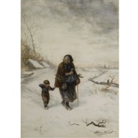 a walk in the snow by elchanon verveer