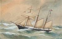 The Danish schooner Activ of Thurø by Reuben Chappell