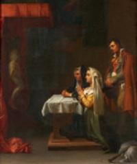 betende in einer kapelle by jean-léonard lugardon