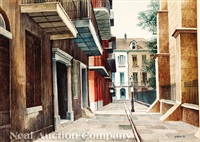 pirate's alley, french quarter by rolland harve golden