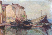 french boats at rest by abel george warshawsky
