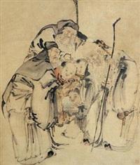 祝寿图 by huang shen