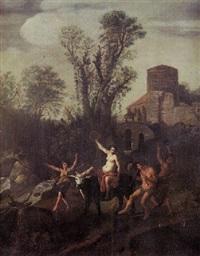 ländliches bacchanal mit tanzenden satyrn und nymphen by claes nicolas jacobsz tol