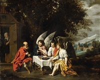 abraham and the three angels by abraham van diepenbeeck