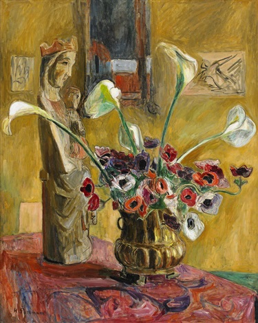 still life with madonna by hans purrmann