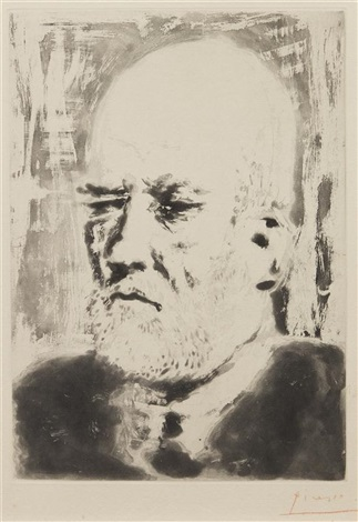 portrait of vollard ii from la suite vollard by pablo picasso